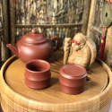 Чаша в форме сегмента бамбука из исинской глины_8198