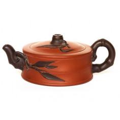 Двухцветный чайник из исинской глины «Сегмент бамбука»
