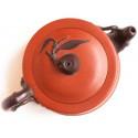 Двухцветный чайник из исинской глины «Сегмент бамбука»_853