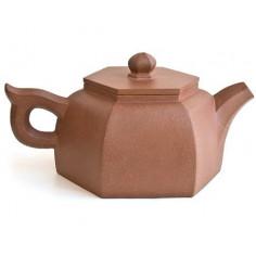 Шестигранный чайник из исинской глины