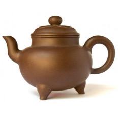 Старый чайник-трипод из исинской глины «Жу И», 520 мл