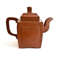 Квадратный чайник из исинской глины, 420 мл