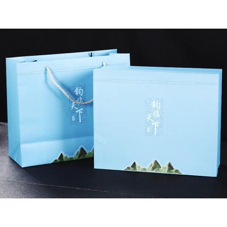 Голубая заячья шерсть - набор керамической посуды в подарочной коробке